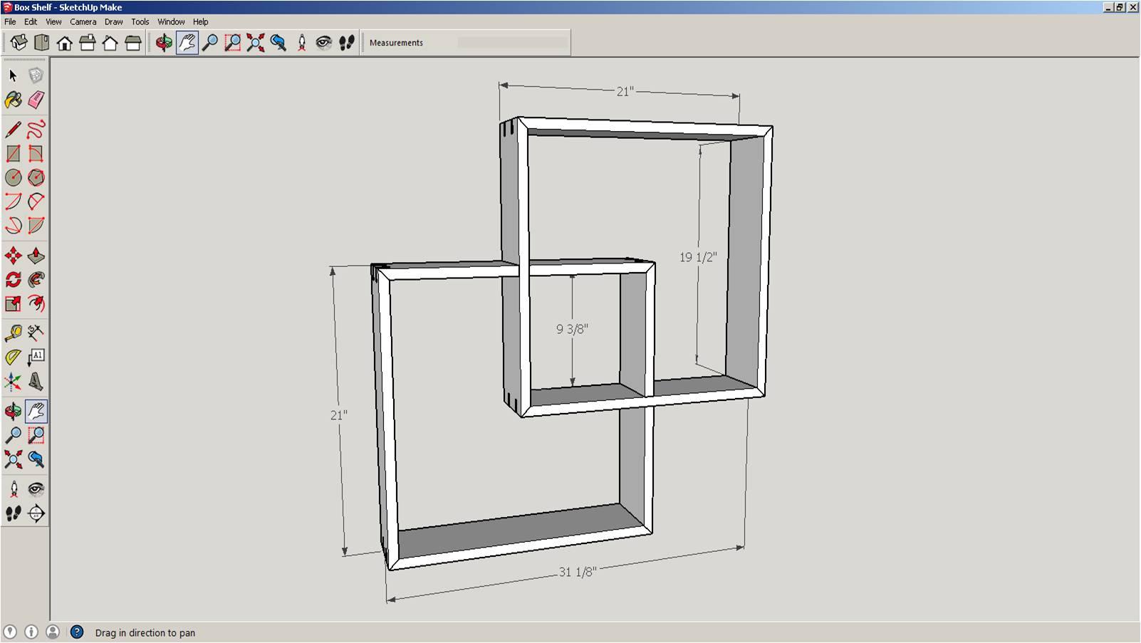 Intersecting Box Shelf | Merzke Custom Woodworking