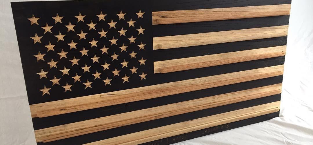 Customized American Flag Coin Rack